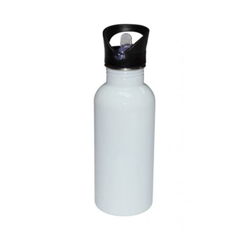 botella acero inoxidable blanco 500ml